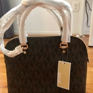 Michael Kors cindy md dome satchel with dust bag